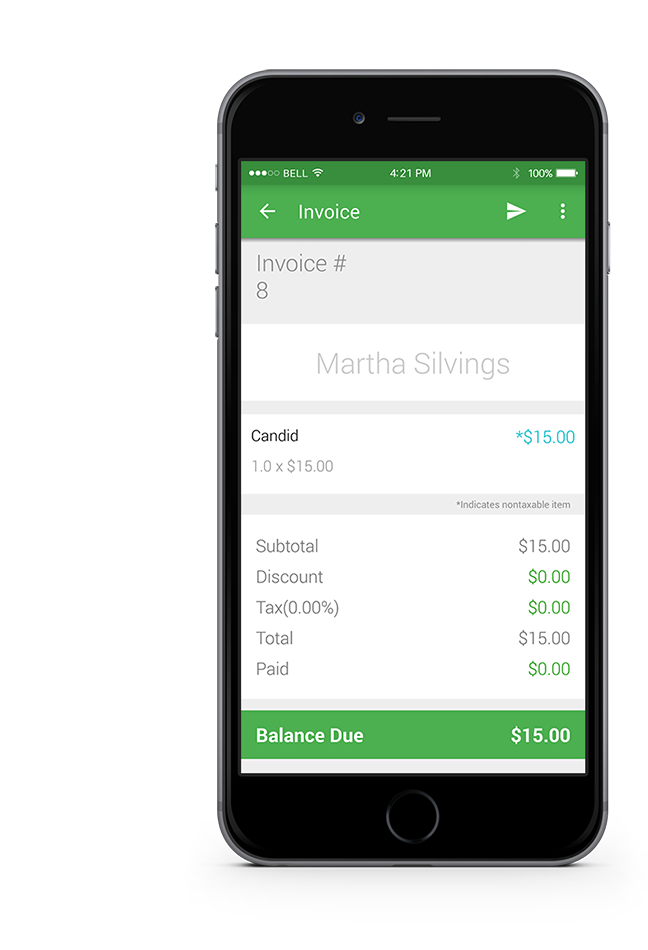 Smart Invoice Create And Send Invoices From Your Mobile Device Or - How to make an invoice on iphone